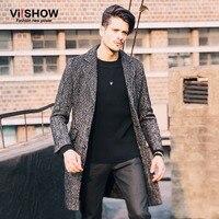 Mens Trençkot 2016 Yeni Moda Tasarımcısı Erkekler Uzun Ceket Sonbahar kış ceket erkekler dış giyim Slim fit Trençkot Erkekler Artı Boyutu