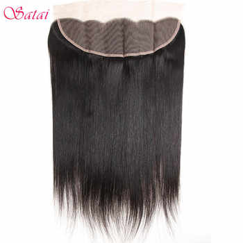 Satai Straight Hair Ear To Ear Lace Frontal 13x4 Closure Free Part 130% Destiny 10-18 inch Natural Color Remy Human Hair - DISCOUNT ITEM  47% OFF All Category