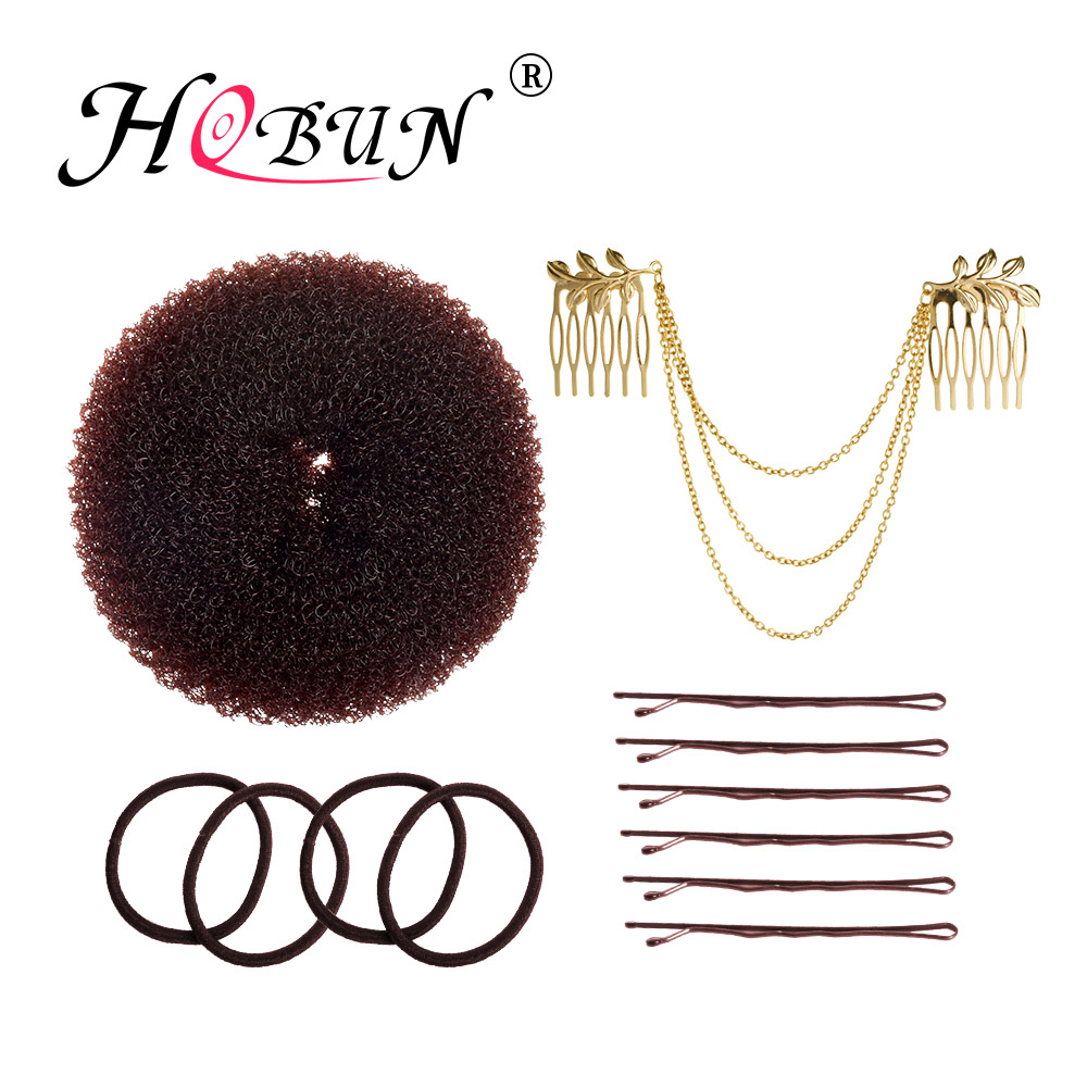 Just Hobun Hot Hair Bun Brown Donut Suit Tool Female Donut Hairpin Hair Accessory Set Hair Ring Donut Para El Cabello 19101bn 19102bn To Enjoy High Reputation At Home And Abroad