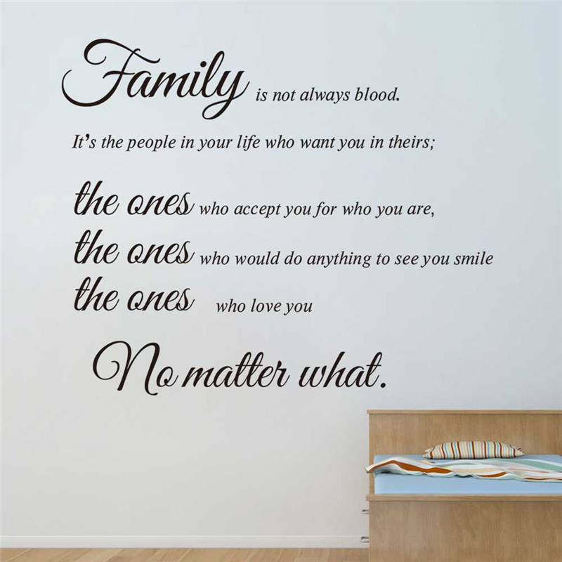 Family Is Not Always Blood Vinyl Wall Stickers Quotes Living Room