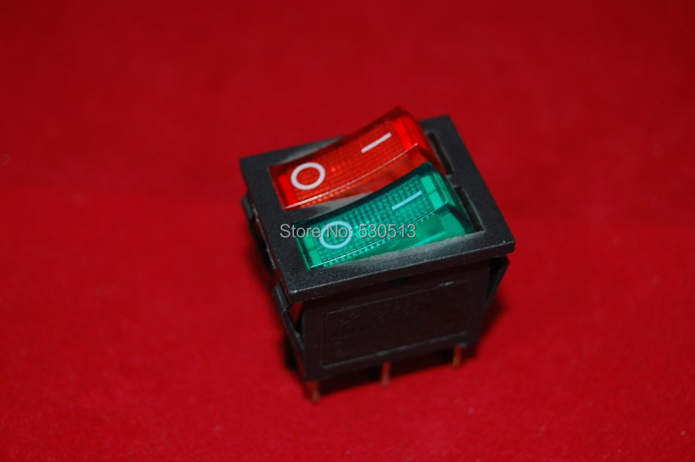 online buy whole rocker switch 120v from rocker switch lot of 2pcs double 2 position rocker boat switch red and green light illuminated 120v ac