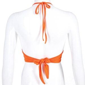 Image 5 - HEYounGIRL Halter Backless 섹시한 자르기 탱크 탑 여성 패션 붕대 자른 탑 여성 민소매 ptop Streetwear Summer Patry