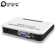 Fêmea com Áudio e Computador Vga para Hdmi Dorewin Conversor Box 1080 P HD Interface Vga Fêmea para Hdmi Porta Converter TV Projetor