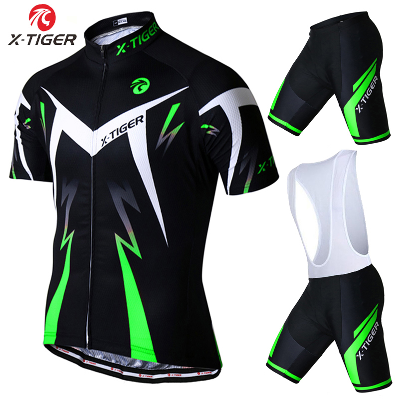 ФОТО X-Tiger 2017 Summer Short Sleeve Cycling Set Mountain Bike Clothing Breathable Bicycle Jersesy Clothes Maillot Ropa Ciclismo