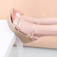 Women Sandals Fashion Superior Quality Comfortable Bohemian Wedges Women Sandals For Lady Shoes High Platform Gold