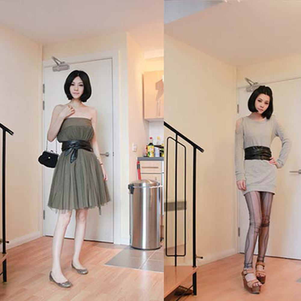 New Fashion Slim Girdle Belt Ties Bow Bands Lace Up PU Leather Women Girl Wide Corsets Cummerbunds Strap Belts