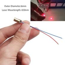 5/10 шт. лазерный диод 650nm 6 мм 3/5V 5 миллионов ватт Регулируемая лазерная точка модуль красный Медь лазерной головки Деревообработка измерительные инструменты