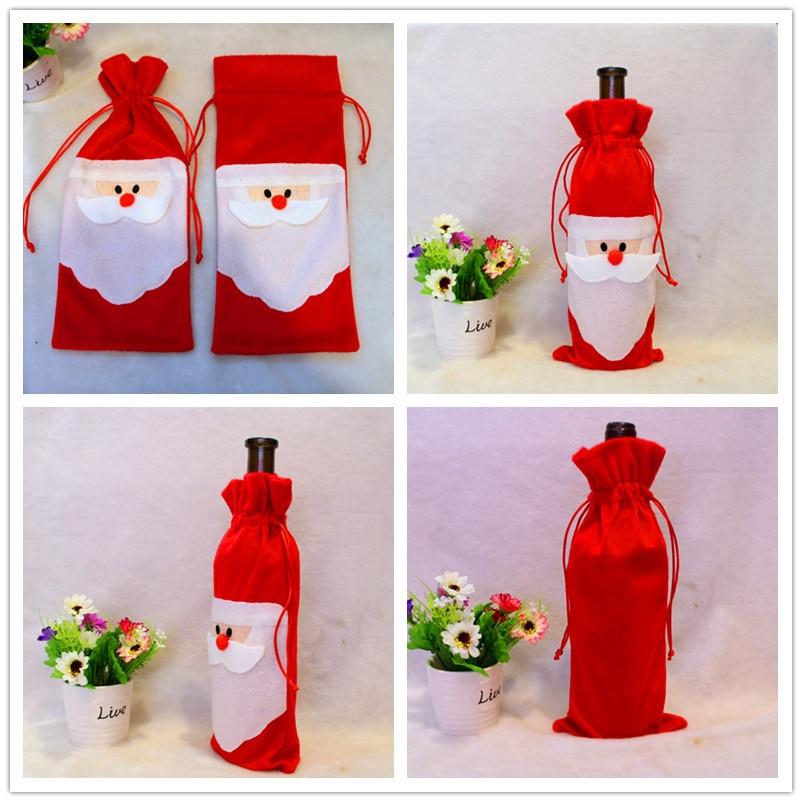 1 Lote = 2 Unid Decoración Cubierta de la Botella de Vino Rojo de ...