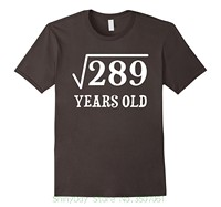 Print T Shirt Men Brand Clothing Square Root Of 289 17 Yrs Years Old 17th Birthday