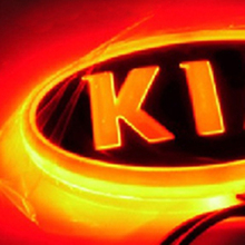 Tcart 4D Car Emblem light lamp led Rear Badge Sticker light LED light  4D logo light Emblems led For KIA
