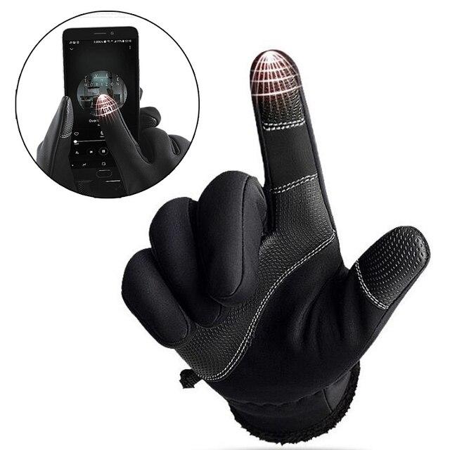 X-TIGER écran tactile gants de vélo hiver thermique coupe-vent chaud doigt complet gants de cyclisme étanche vélo gant pour hommes femmes