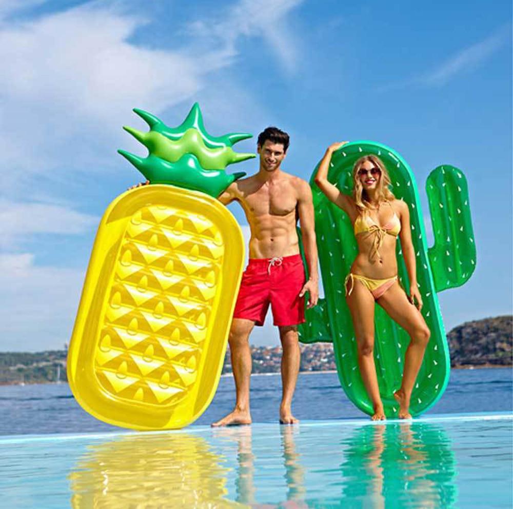 Air Gonflable cactus ananas Piscine Flotteur Cercle Matelas De Natation Flotteur Gonflable Piscine Anneau Jouets pour 180 cm piscina D'été Jouet