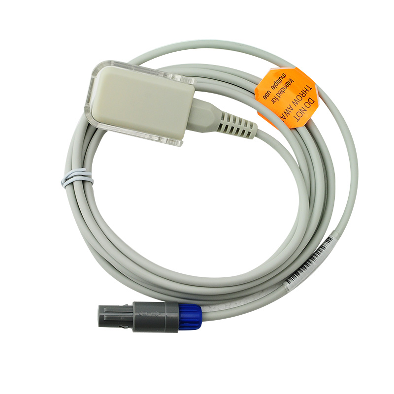 SpO2 Extension Adapter Cable, Redel 6pin To DB9 Female Compatible Mindray 0010-20-42594
