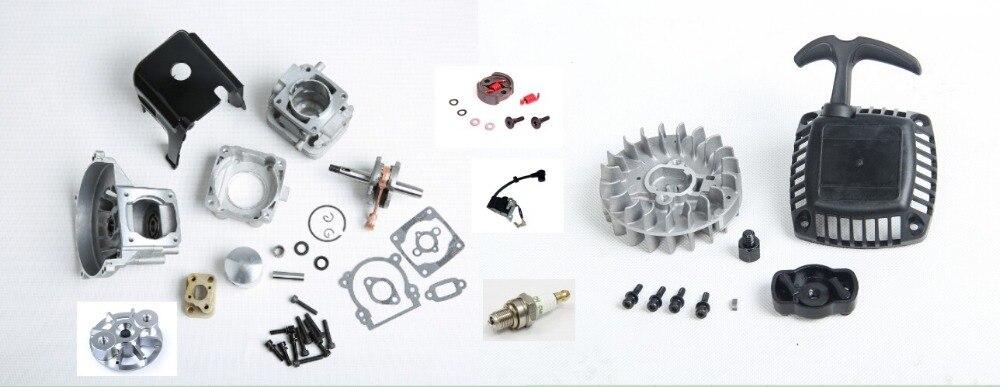 Pièces de moteur 32cc kit de cylindre de mise à niveau 32cc pour moteur Zenoah CY ROVAN KM pour voiture de course 1:5 HPI