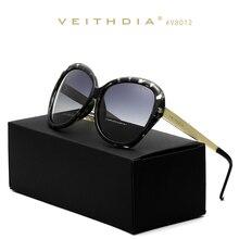VEITHDIA Polarizadas gafas de Sol de Las Mujeres Diseñador de la Marca de Espejo TR90 Aleación de Lujo De la Lente gafas de Sol Para mujer gafas de sol hombreV62