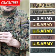 GUGUTREE embroidery HOOK&LOOP usarmy patches army badges applique for clothing AD-60