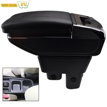 Arm Rest Rotatable For Honda Fit Jazz 2009 2013 GE Center Centre Console Storage Box Armrest 2010 2011 2012