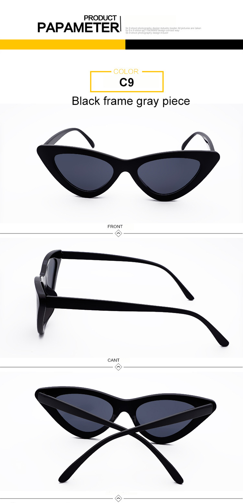 HTB1bb1VjqmgSKJjSspiq6xyJFXan - WHO CUTIE 2018 Brand Designer Black Cat Eye Sunglasses Women Cool Small Cateye Frame Sun Glasses Fashion UV400 Shades WG-008