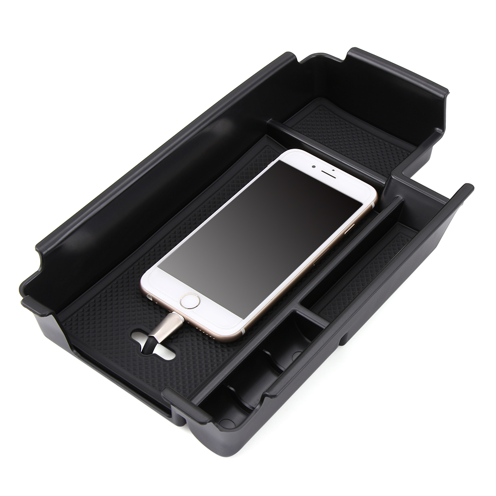 Central armrest storage box container holder tray accessories car organizer car styling fit for audi a4