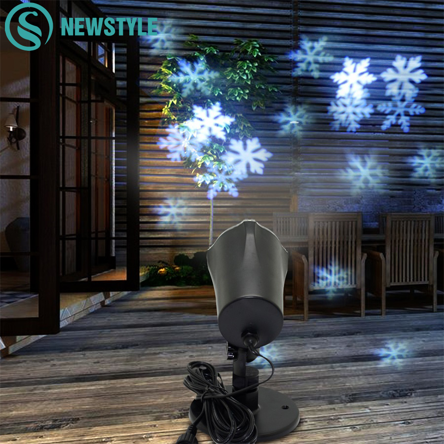 4W Mery Christmas Lights Outdoor LED Snowflake Projector Light Lawn Lamp Waterproof Lasers KTV New Year Christmas Decoration