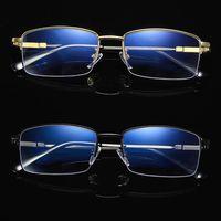 Прогрессивные мульти-фокус очки для чтения унисекс модные анти-синий сплав Половина рамки Рецептурные очки