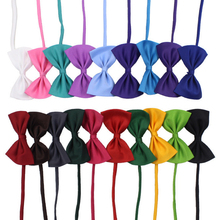 50/100 Pcs/lot Pet Dogs Cats Bow Tie Adjustable tie Grooming Accessories Multicolor Cute Bows For Necks Polyester & Cotton