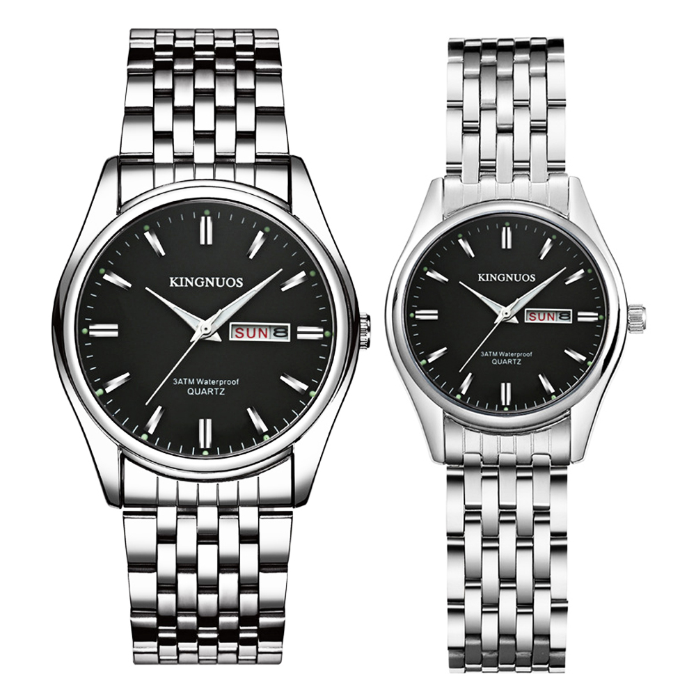 Couple Watches Dropshipping KINGNUOS Brand New Stylish Bracelet For Watches Men Women Clock Hodinky Date Week Lover's Wristwatch
