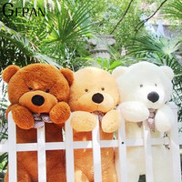 1pcs 200cm Four Colors Big Teddy Bear Skin Plush Toys Bear Coat Low Price Birthday Gifts Christmas Gifts For Kids Children