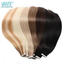 Bhf лента для наращивания человеческих волос 20 шт Remy Прямые кожные уток натуральные волосы клей для наращивания