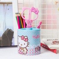 Kitty Schüler Stift Multifunktionale Einfache Nette Feder Stift Barrel Kreative Büro Aufbewahrungsbox Multi Pen Fall