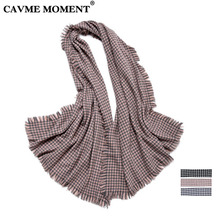 CAVME Wool Scarf Swallow Gird Women Plaid Scarves Ladies Winter Woolen Wraps Largue Shawls  80*220cm 340g CUSTOM Letters