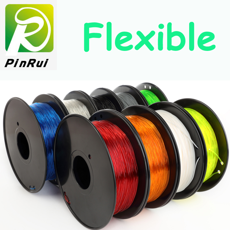 Haute quallity imprimante 3d filament flexible 0.8KG / rouleau TPU PLA flexible 9 couleur flexible filament 1.75mm imprimante 3d