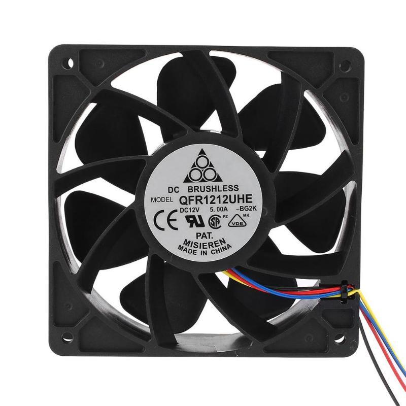 VODOOL DC12V 5A minero ventilador 6000/7500 rpm 4 Pin conector de aire para Antminer Bitmain S7 s9 Brushless enfriador de aire