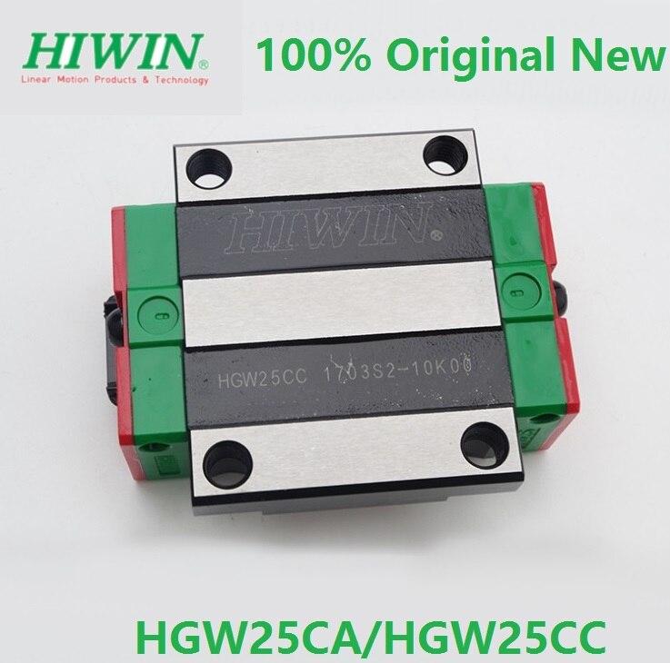14pcs lot 100 original Hiwin HGW25CA HGW25CC linear flanged block match with HGR25 linear rail only
