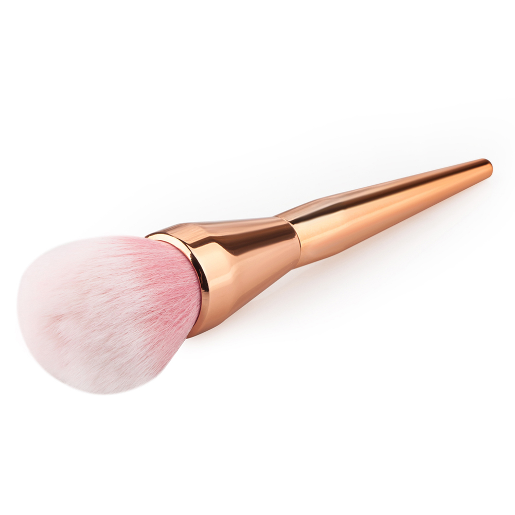 2017 Hot Rose Gold Powder Blush Brush Professional Makeup Brush 200 Flawless Blush Powder Brush Kabuki Foundation Make Up Tool(China (Mainland))