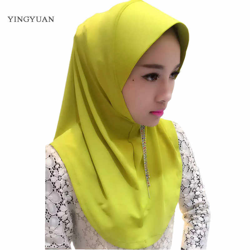 TJ47 Baru Pakaian Mudah Muslim Jilbab Syal Wanita Kuantitas Tinggi Wanita Syal Showl (Tidak Ada Bros)