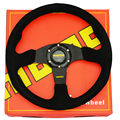 "MOMO 13.6"" 350mm Rally Racing Sport Steering Wheel Racing Suede Nubuck Leather fit MOMO OMP SPC BOSS KIT"
