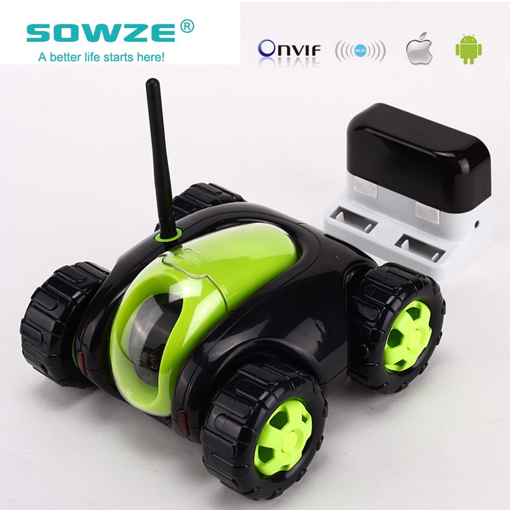 imágenes para 2017 El Más Nuevo robot WiFi Internet P2P Nube Rover tank RC espía cámara de visión nocturna video del coche del coche de red inalámbrica a distancia control