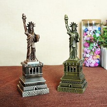 Red Copper Bronze Metal Crafts Statue of Liberty Model Tourism City Souvenir Studied Sculpture Home Decoration