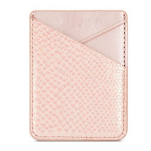 цена на Fashion Universal Card Holder Cell Phone Storage PU Leather Wallet Pouch Portable Adhesive Credit Card Back Pocket Sticker