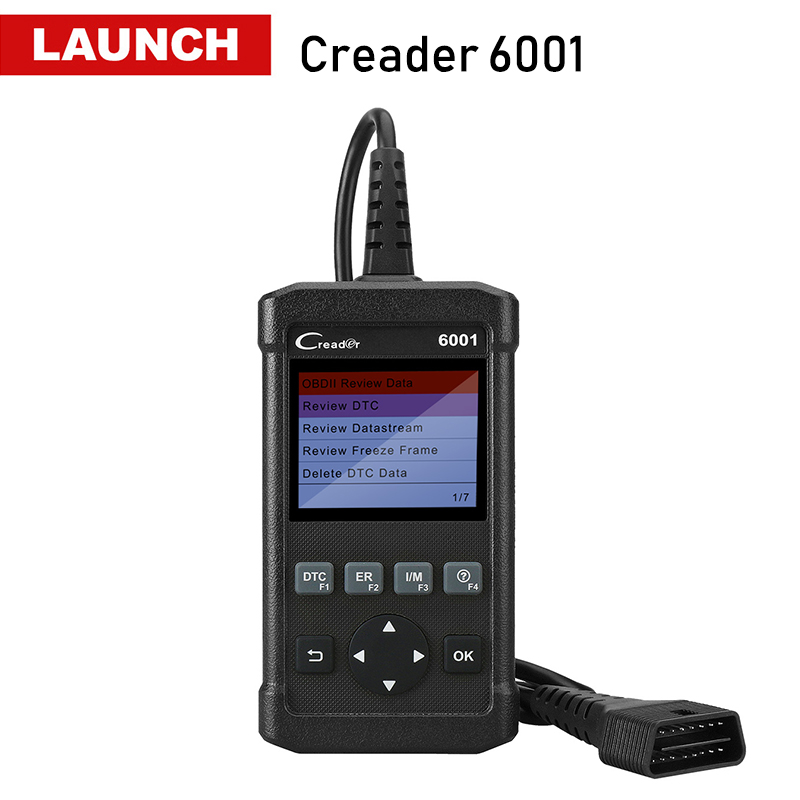 LAUNCH Creader 6001 OBD2 Scanner Full OBD 2 DIY Auto Fault Code Reader Car Diagnostic Scan Tool EOBD OBDII Autoscanner CR6001 2017 latest konnwei diagnostic code reader car fault auto scanner tool kw830 obdii eobd car detector automotive tool