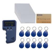 125khz Access Control ID EM4100 Card Copier Duplicater Free EM4100 Writable Cards Keyfob Free Shipping
