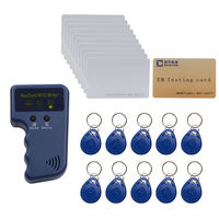 125khz Access Control ID EM4100 Card Copier Duplicater Free EM4100 Writable Cards Keyfob Free Shipping