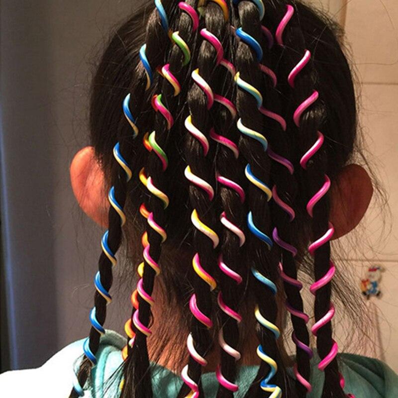 12 Teilepaket Mode Tress Zopf Flechten Haar Band Bunte Regenbogen