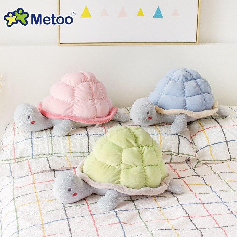 8 Inch Plush Cute Lovely Stuffed Baby Kids Toys for Girls Birthday Christmas Gift Tortoise Cushion Pillow Metoo Doll