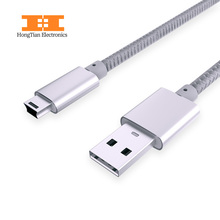 USB 2.0 Type A Male to Mini 5P Male Mini 5P USB Cable  M/M Foil Braided PVC Shielding 1M Charge Data Cable Adapter For MP3 Mp4