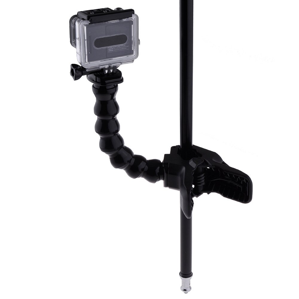 Jaws Flex Clamp Arm Mount and Adjustable Goose Neck for GoPro Camera Hero 4/3+/3/2/1 Black