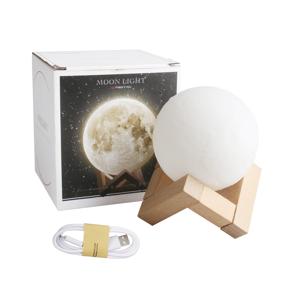 Rechargeable Moon Lamp 3D Touch Control Brightness Light 3