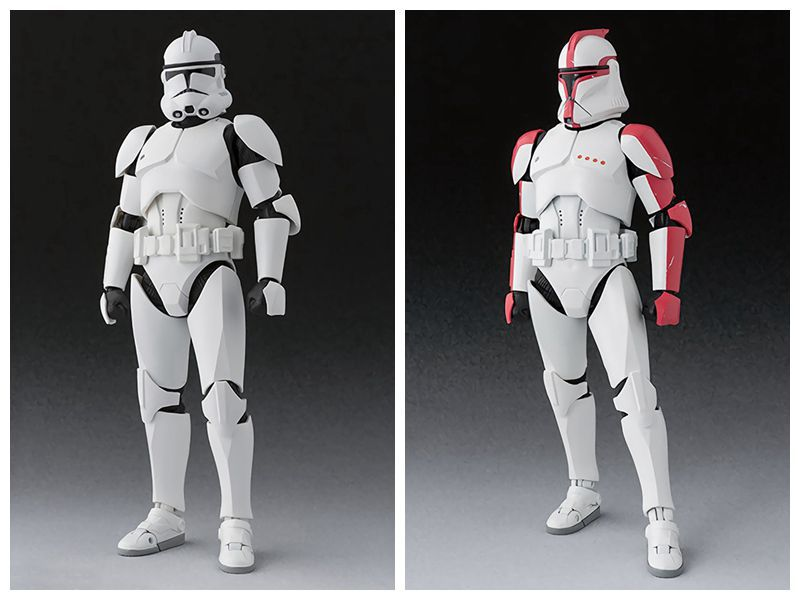 15cm Movie Star Wars Clone Storm Trooper Phase SHFiguarts Action Figure Toy Collection Model Gift