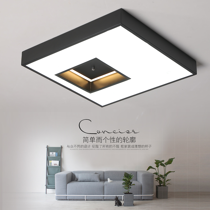VeiHao New modern led ceiling lights lamp Dimming living room bedroom dining room black and white acrylic indoor home lighting new led wall light creative footprint dimming lamp for bedroom dining room lamp acrylic circular sitting room lighting